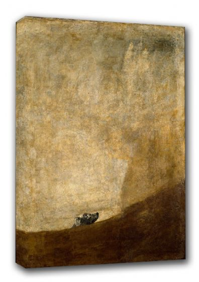 Goya, Francisco de: The Dog. Fine Art Canvas. Sizes: A3/A2/A1. (00240)
